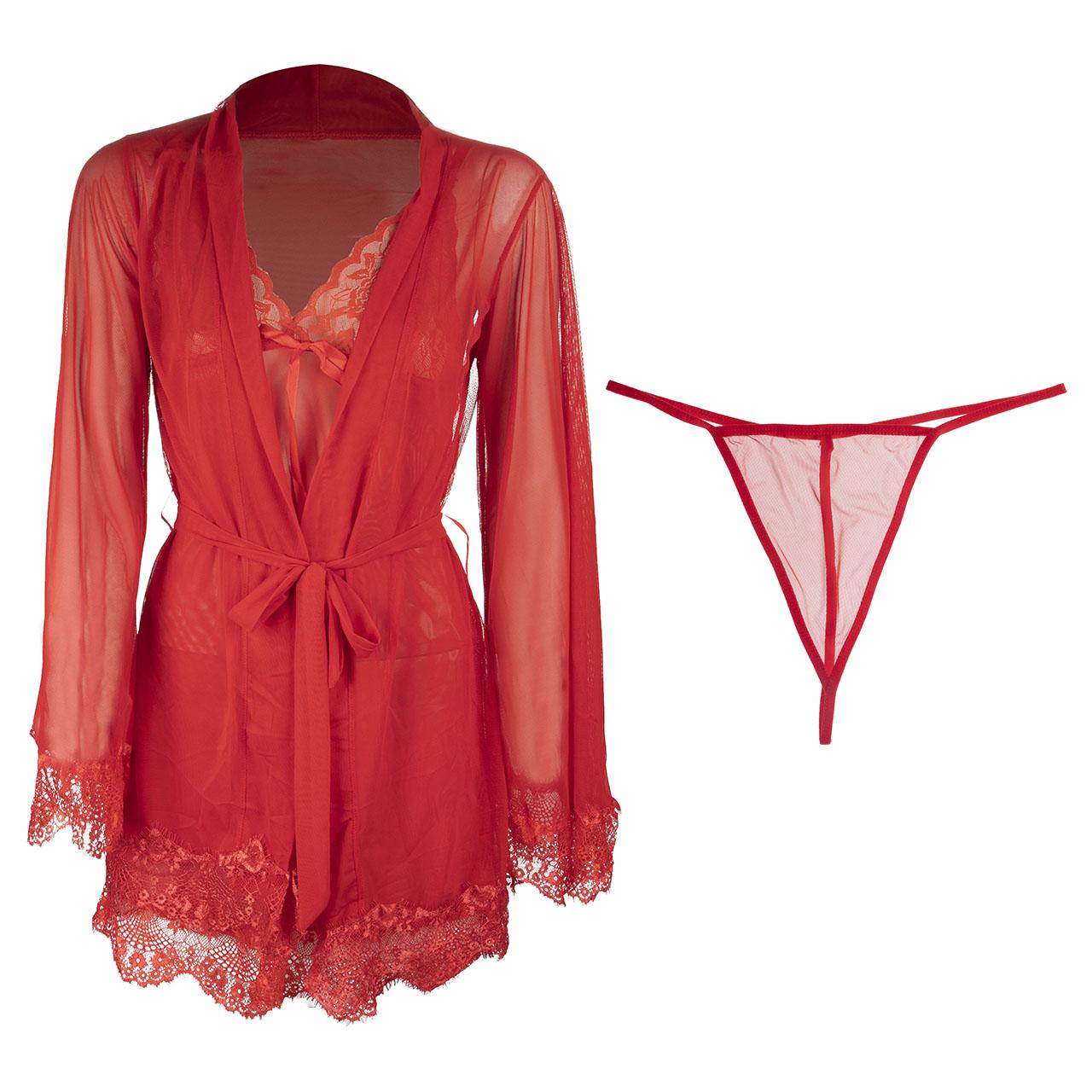 لباس خواب سه تکه زنانه مدل لیانا کد 14