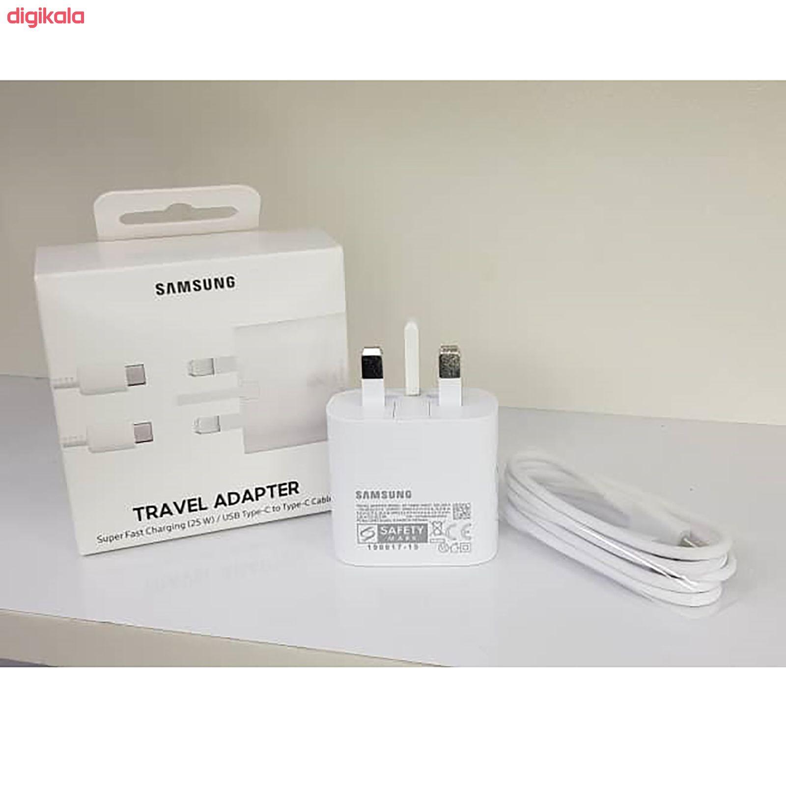 شارژر دیواری سامسونگ مدل EP-TA800 به همراه کابل تبدیل USB-C main 1 10