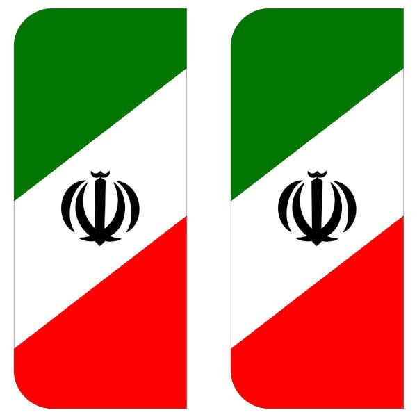 تخفیف خرید برچسب پلاک خودرو مستر راد طرح پرچم ایران مدل 1221بسته دوعددی