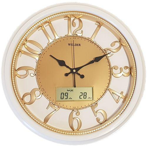 ساعت دیواری ولدر کد 518 تقویم دار