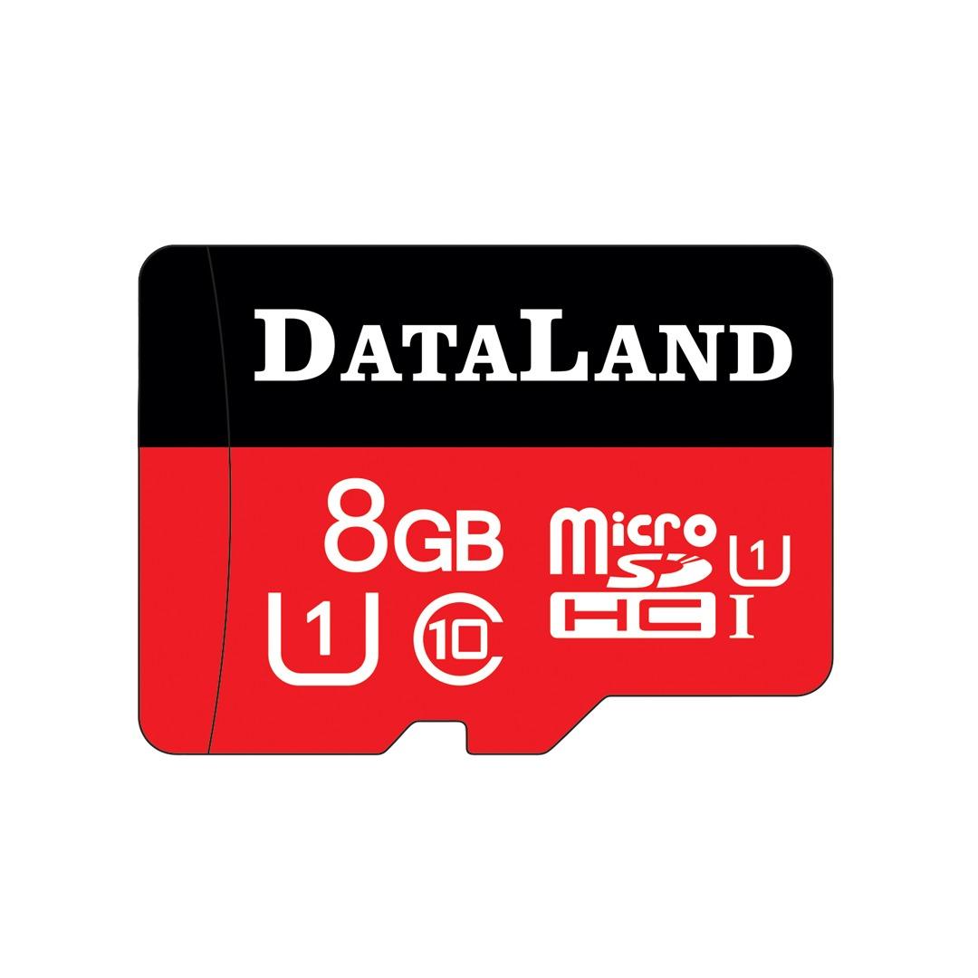 کارت حافظه microSDHC دیتالند مدل 333x کلاس 10 استاندارد UHS-I U1 سرعت 45MBps ظرفیت 8 گیگابایت