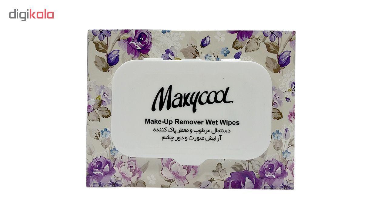 دستمال مرطوب ماکسی کول مدل Make-Up-3 بسته 40 عددی main 1 2