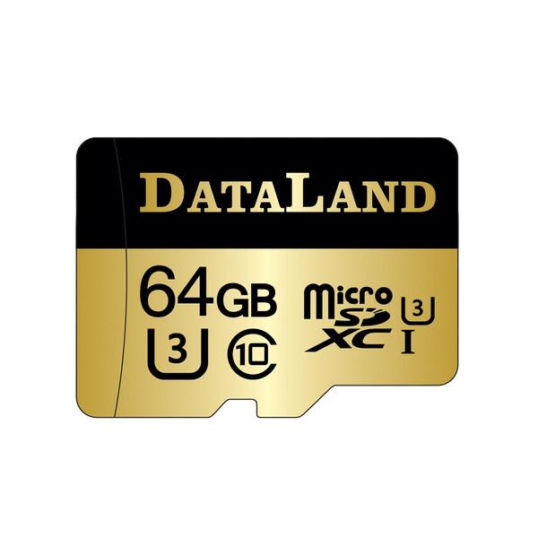 کارت حافظه microSDXC دیتالند مدل 600x کلاس UHS-I U3 سرعت 100MBps ظرفیت 64 گیگابایت