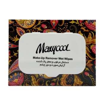 دستمال مرطوب ماکسی کول مدل Make-Up Remover بسته 40 عددی