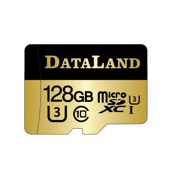 کارت حافظه microSDXC  دیتالند مدل 600x کلاس  UHS-I U3 سرعت 100MBps ظرفیت 128 گیگابایت