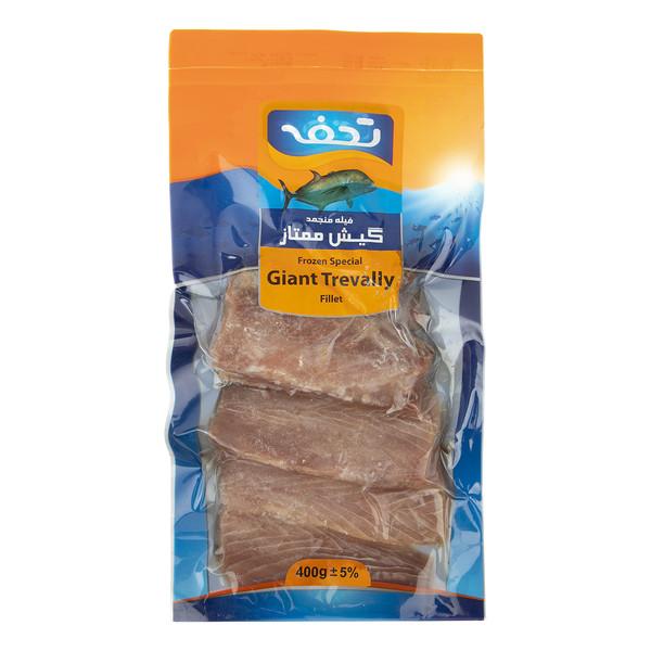 فیله ماهی منجمد گیش ممتاز تحفه مقدار 400 گرم
