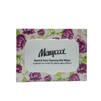 دستمال مرطوب ماکسی کول مدل Hand & Face بسته 40 عددی