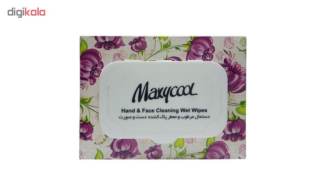 دستمال مرطوب ماکسی کول مدل Hand & Face بسته 40 عددی main 1 2