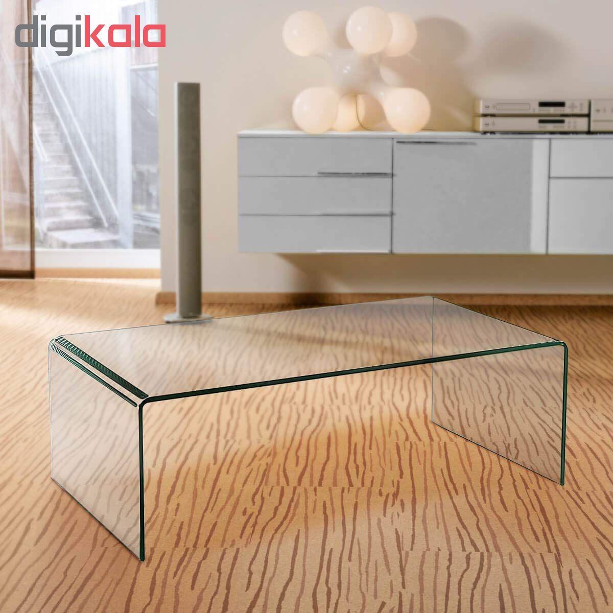 میز جلو مبلی شیشه خم اطلس 12 میل طول 110 سانتی متر main 1 2