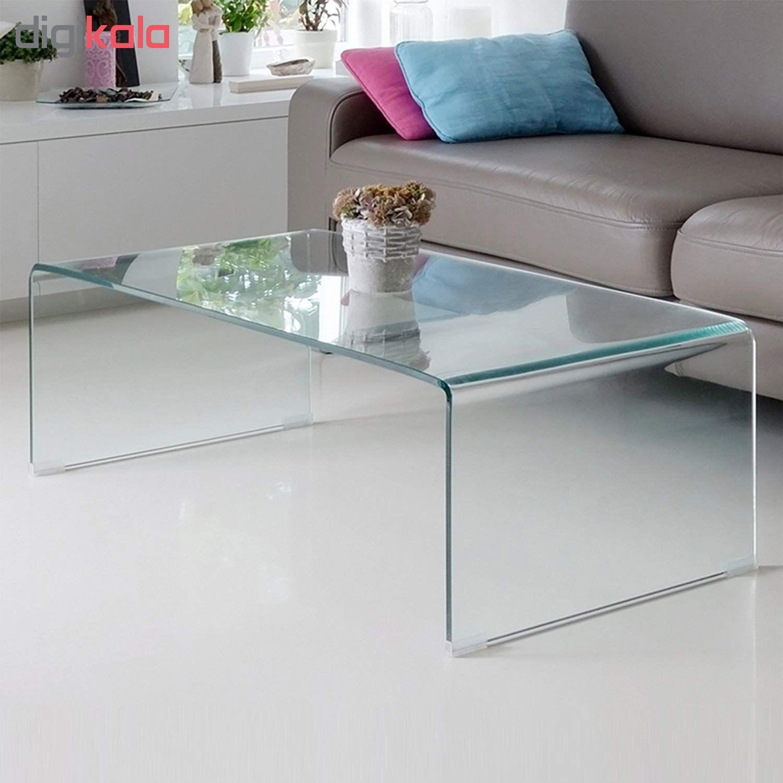 میز جلو مبلی شیشه خم اطلس 12 میل طول 110 سانتی متر main 1 3