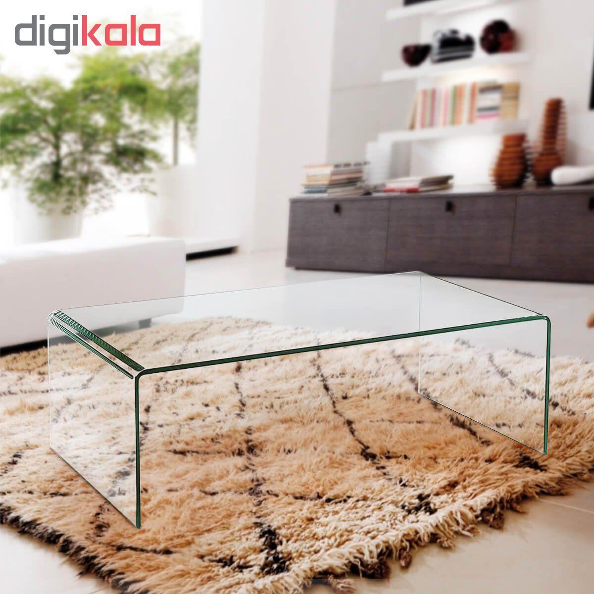 میز جلو مبلی شیشه خم اطلس 12 میل طول 110 سانتی متر main 1 4