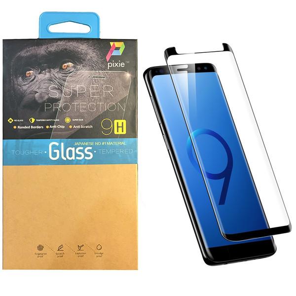 محافظ صفحه نمایش  تمام چسب شیشه ای پیکسی مدل Short 3D  مناسب برای گوشی سامسونگ گلکسی S9 Plus
