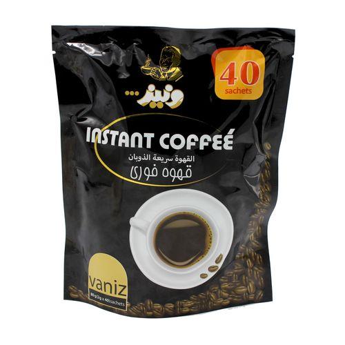 قهوه فوری ونیز مدل بلک VIZ002  بسته 40 عددی