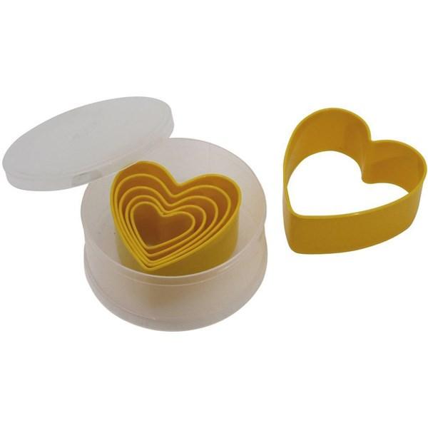 قالب برش کیک پلاستیکی 6 پارچه پدرینی سری دلچی طرح قلب کد 03GD260