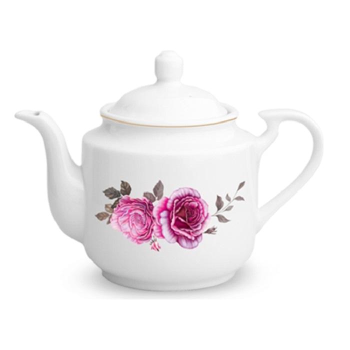 قوری چینی زرین ایران مدل Rose Flower - S درجه عالی