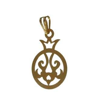 آویز گردنبند طلا 18 عیار کانیار گالری مدل انار P11
