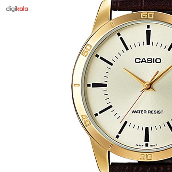 ساعت مچی عقربه ای کاسیو مدل MTP-V004GL-9AUDF مناسب برای آقایان