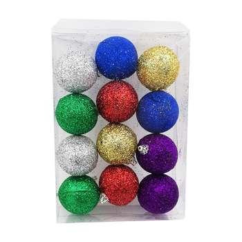 آویز درخت کریسمس مدل B02 بسته 12 عددی