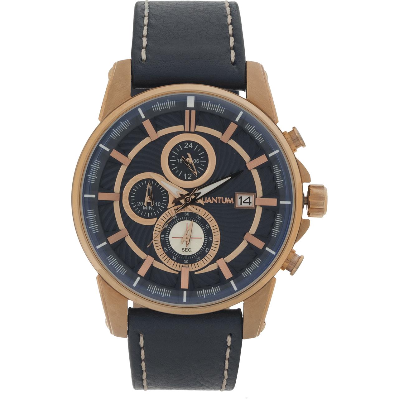 ساعت مچی عقربه ای مردانه کوانتوم مدل ADG541.499