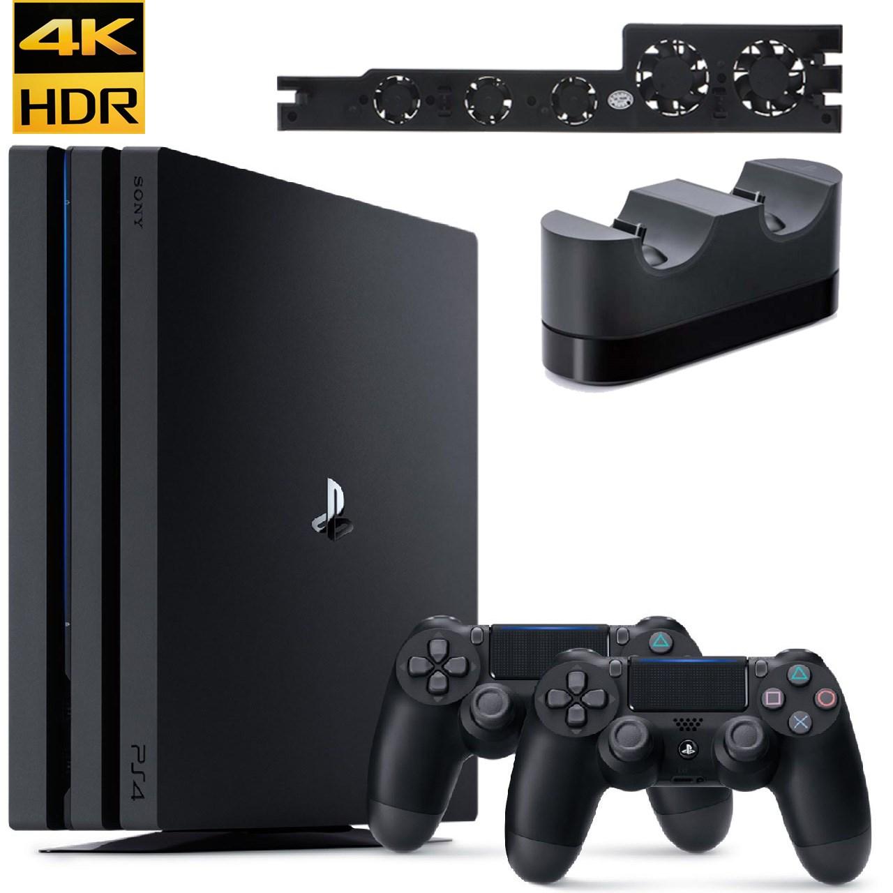 مجموعه کنسول بازی سونی مدل Playstation 4 Pro 2018 کد CUH-7216B Region 2 ظرفیت 1 ترابایت