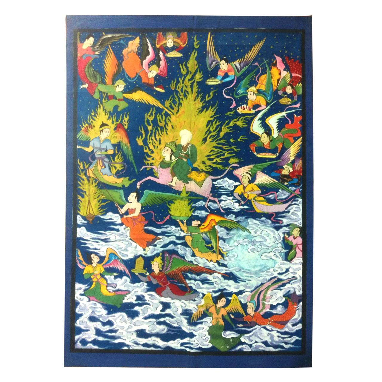 پرده نقاشی لوح هنر مدل معراج پیامبر کد 849