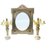 آیینه و شمعدان خاتم کاری لوح هنر کد 732