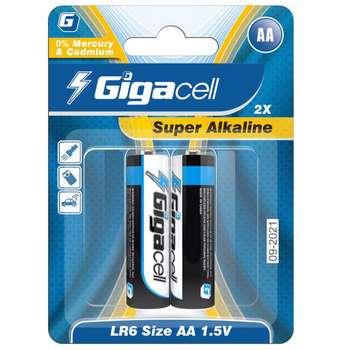 باتری قلمی گیگاسل مدل Super Alkaline بسته 2عددی