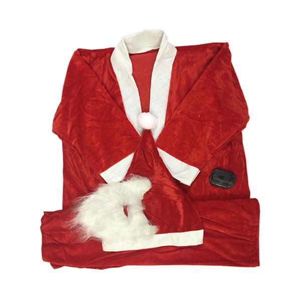 لباس بابانوئل سورتک طرح کریسمس مدل STCH160