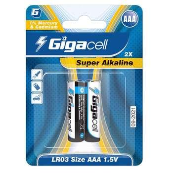 باتری نیم قلم گیگاسل مدل Super Alkaline بسته 2عددی