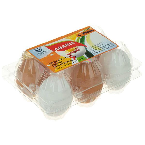 تخم مرغ سفید و رسمی آباریس بسته 6 عددی