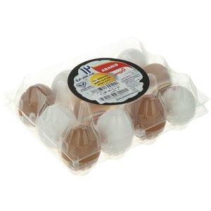 تخم مرغ سفید و رسمی آباریس بسته 12 عددی