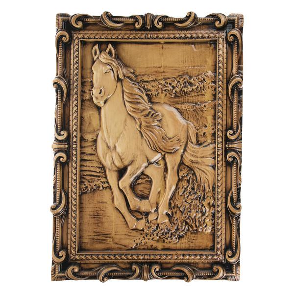 تابلو چوبی طرح اسب