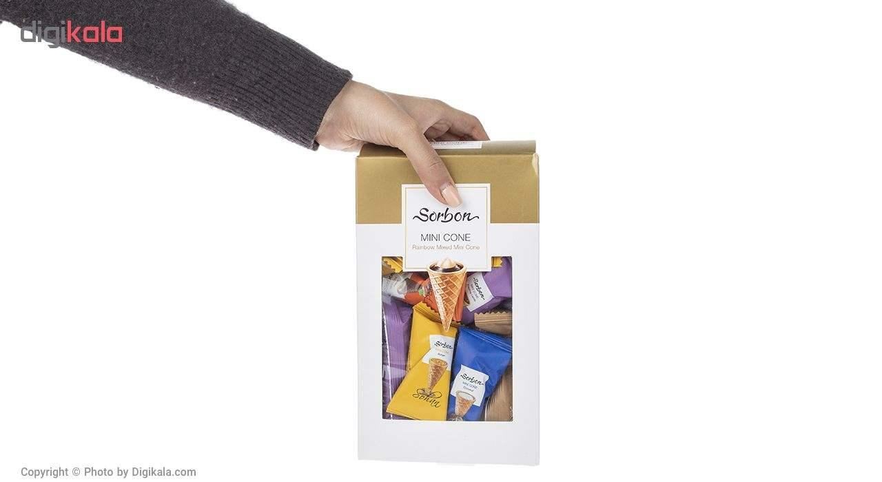 شکلات پذیرایی مخروطی سوربن مدل Rainbow Mixed Mini Cone مقدار 350 گرم main 1 4
