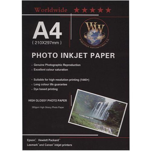 کاغذ عکس Word Wide مدل Photo Injection سایز A4 - بسته 100 عددی