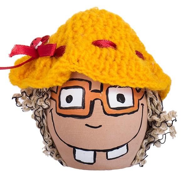 تخم مرغ رنگی هفت سین طرح خانوم عینکی