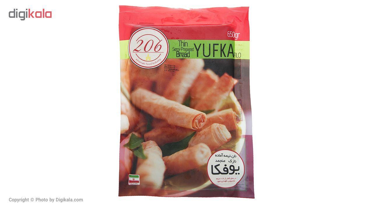 نان نیمه آماده منجمد یوفکا 206 مقدار 650 گرم main 1 1