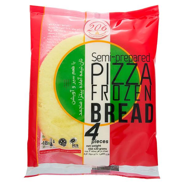 نان نیمه آماده منجمد پیتزا با طعم سیر و آویشن 206 مقدار 450 گرم