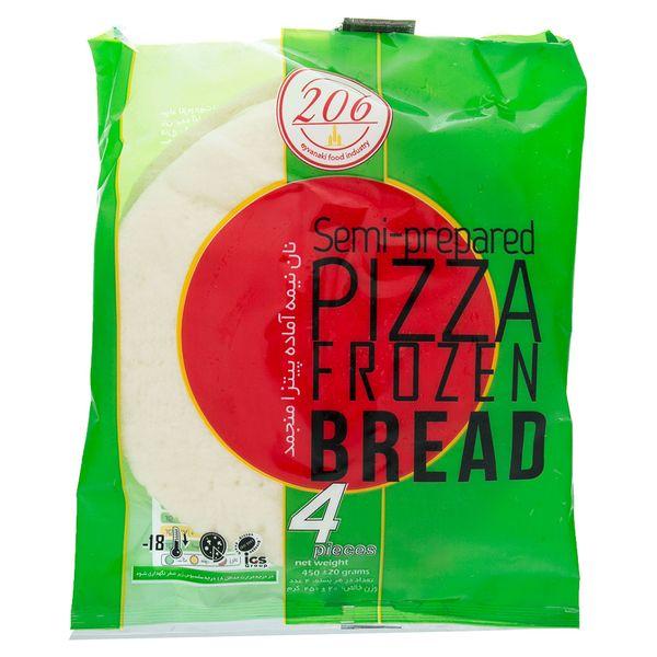 نان نیمه آماده منجمد پیتزا 206 مقدار 450 گرم