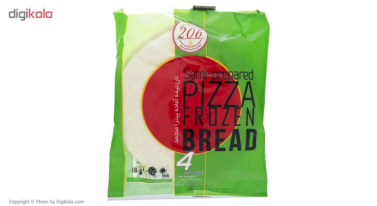 نان نیمه آماده منجمد پیتزا 206 مقدار 450 گرم main 1 1