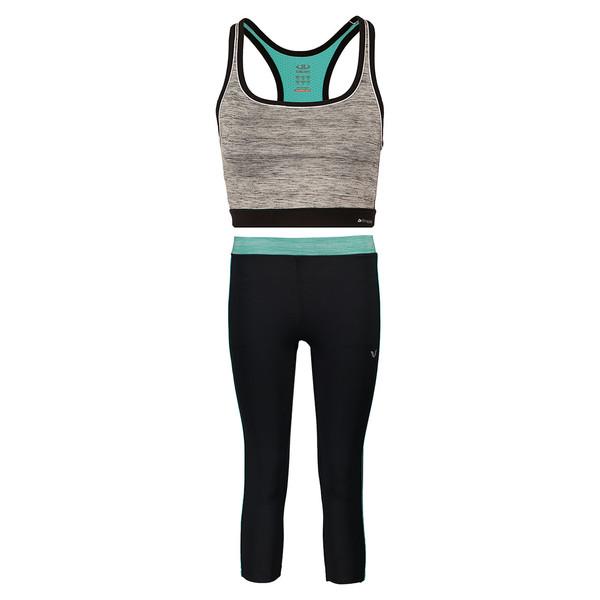 ست نیم تنه و شلوارک ورزشی زنانه بیلسی مدل 15Y7281-PL-SIYAH-SIYAHMLJ-FRESH