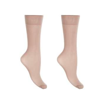جوراب زنانه آلمانی نوردای  برنزی طرح پارازین کد611625/3 بسته 5 عددی