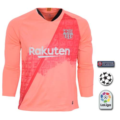 پیراهن ورزشی طرح مسی مدل بارسلونا SL-3rd18/19 به همراه تگ