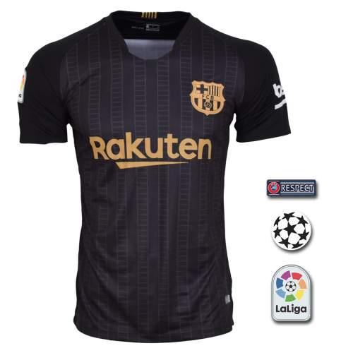 پیراهن ورزشی طرح بارسلونا مدل 18/19 به همراه تگ
