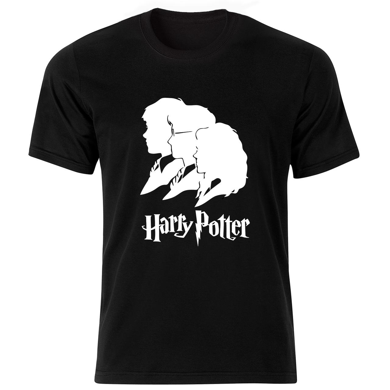 تی شرت آستین کوتاه مردانه طرح هری پاتر کد 18135 BW