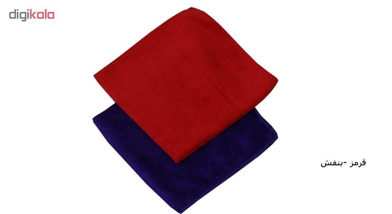 دستمال نظافت میکرو فایبر  مدل 240 بسته 2 عددی main 1 1