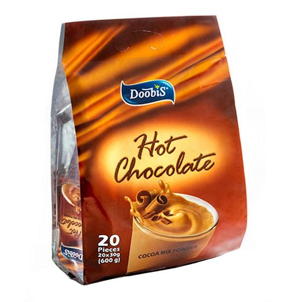 هات چاکلت دوبیس مدل Cocoa Mix Powder بسته 20 عددی