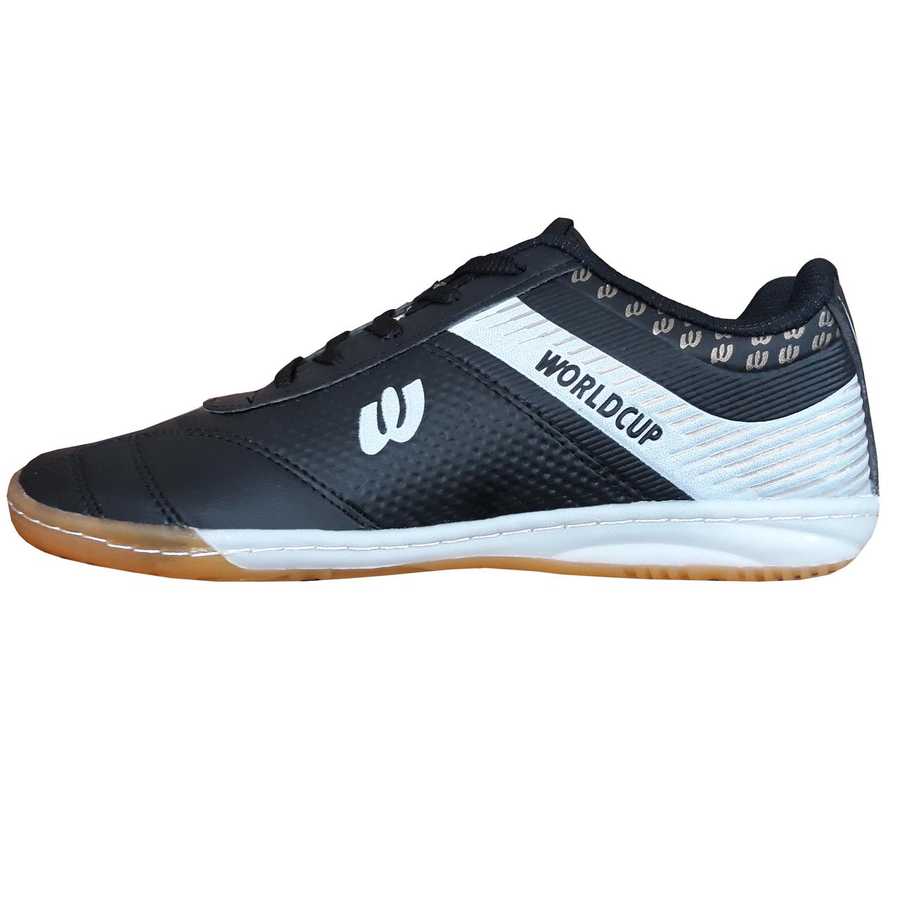کفش فوتسال مردانه ورلدکاپ مدل WBLACK |