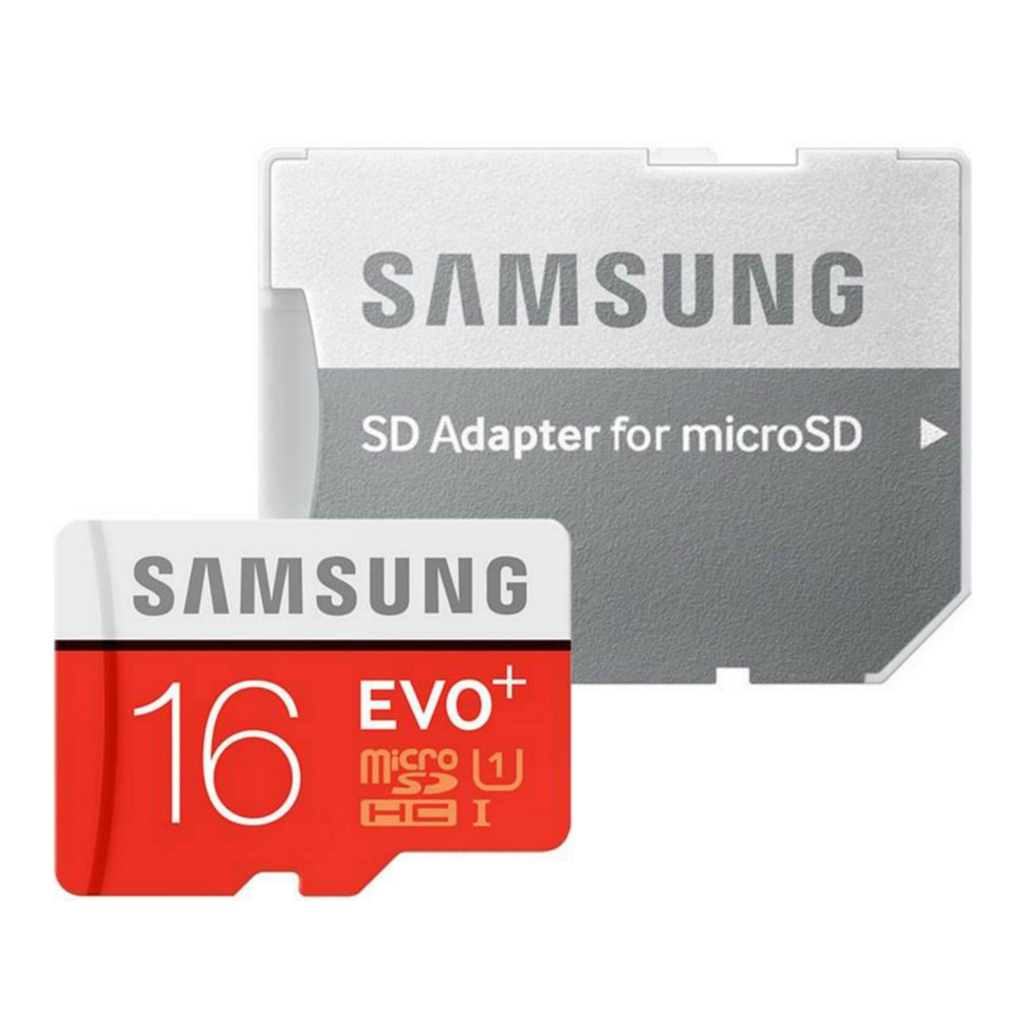 کارت حافظه microSDHC  مدل Evo Plus کلاس 10 استاندارد UHS-I U1 سرعت 100MBps همراه با آداپتور SD ظرفیت 16 گیگابایت