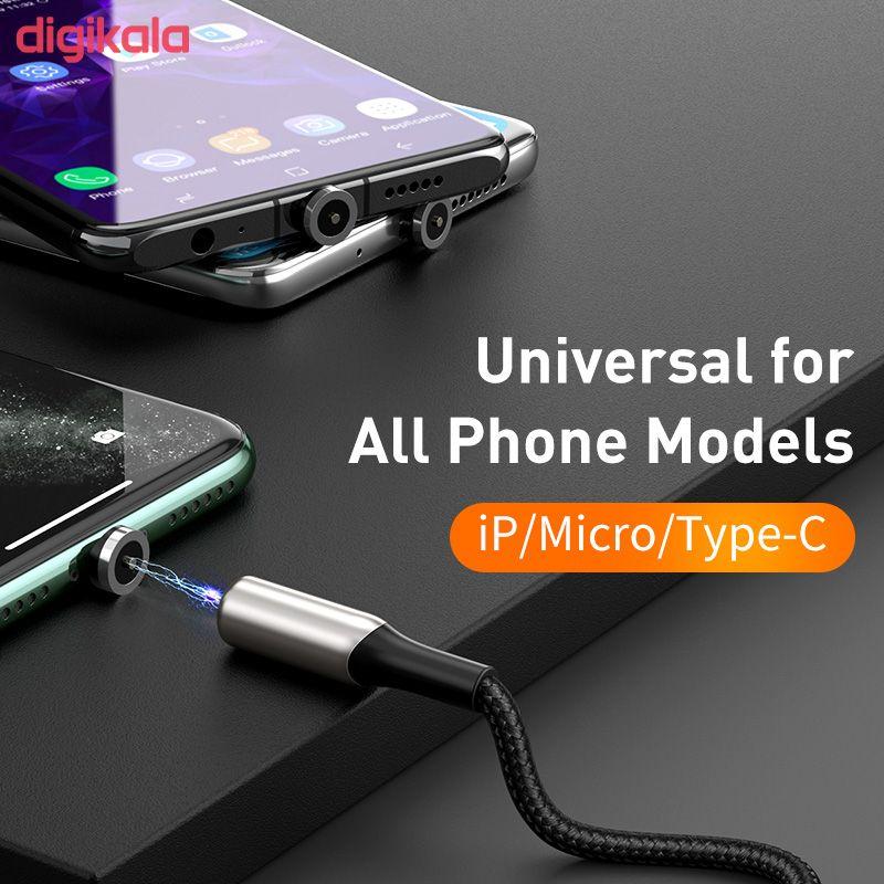 کابل تبدیل USB به USB-C / microUSB / لایتنینگ باسئوس مدل TZCAXC-G01 طول 2 متر main 1 2