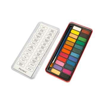 آبرنگ پییرسز 24 رنگ مدل جعبه فلزی
